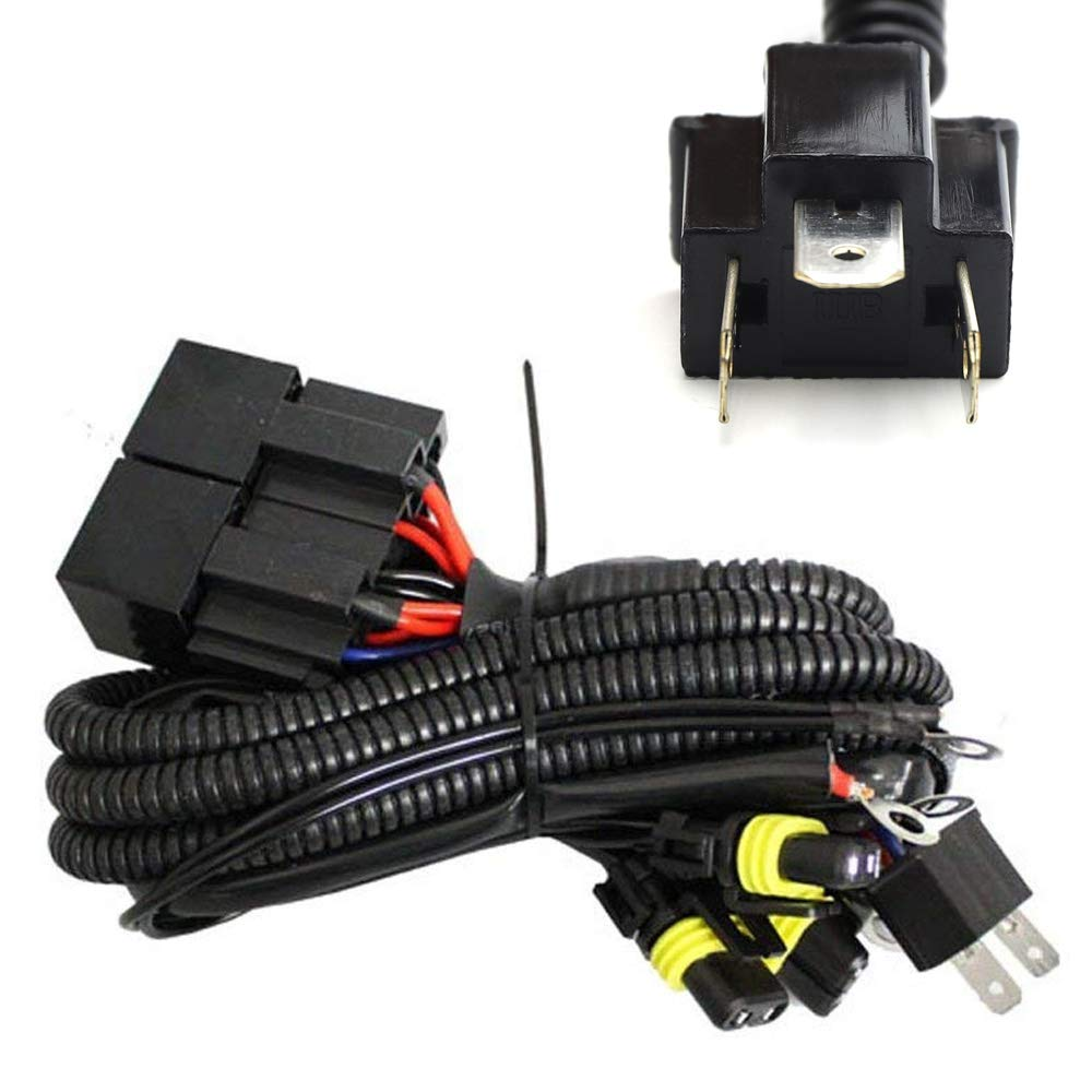 Headlight High/Low Conversion Relay Wire Harness For Original H4 Headlamps on