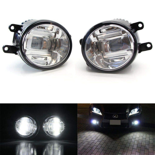 OEM Spec 15W Xenon White LED Projector Fog Lights For Lexus IS GS CT LX RX Toyota Camry Venza Prius Sienna etc. Powered by 3 Pieces High Power 5W CREE XB-D LED Emitters-iJDMTOY
