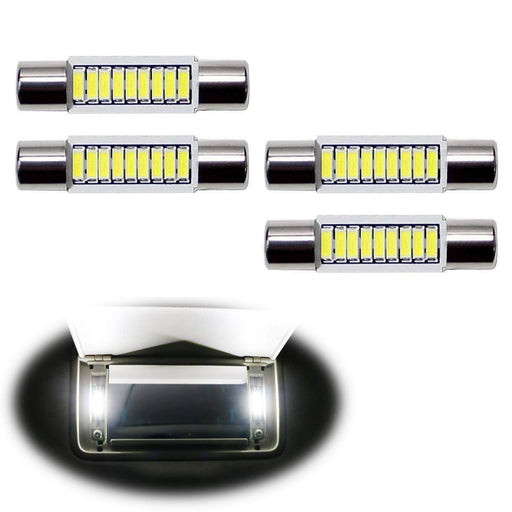 4pcs Extremely Bright 9-SMD 29mm 6614 LED Replacement Bulbs For Car SUV Truck Sunvisor Flips Vanity Mirror Lights-iJDMTOY