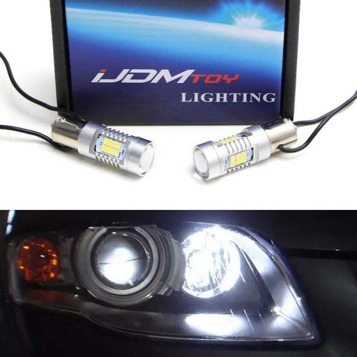Complete Error Free 21-SMD 7506 P21W LED Daytime Running Light Bulbs For Audi A3 A4 A6 TT Q7, Xenon White-iJDMTOY
