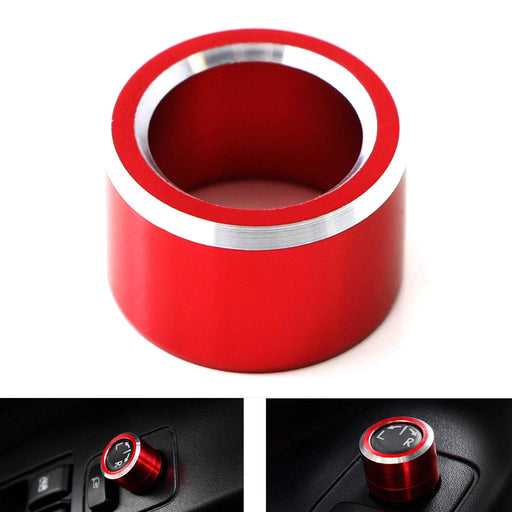 Red Anodized Aluminum Side Mirror Adjustment Button Knob Cover For Subaru WRX, STI, Impreza, Forester, XV Crosstrek-iJDMTOY