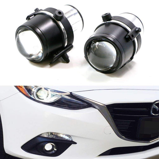(2) OEM Replace Projector Fog Light Housings For Mazda 3 5 6 MX-5 CX-7, HID or LED Ready (Bulbs Not Included)-iJDMTOY