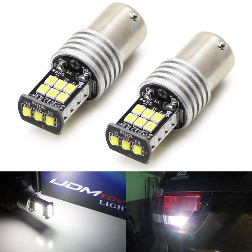 3-SMD LED on Top plus 12-SMD 360-degree shine 1156 LED Bulbs For Backup Lights-iJDMTOY