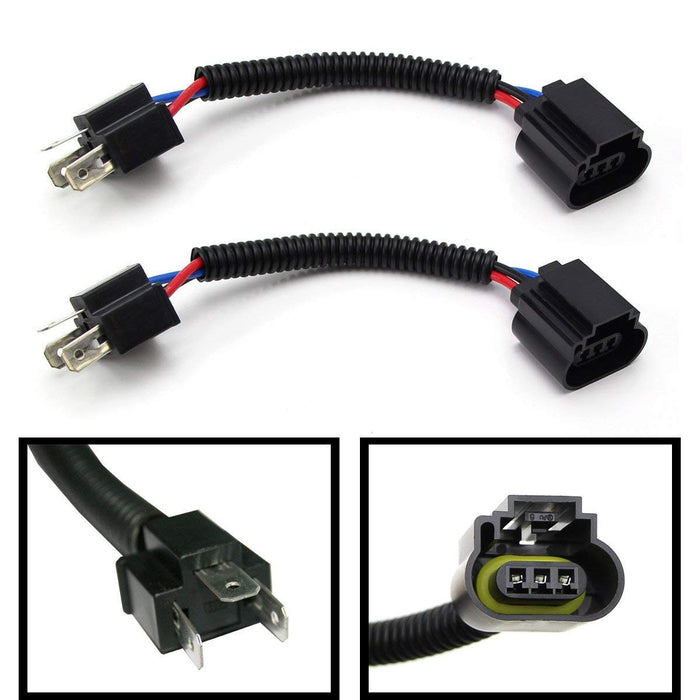 H4 9003 To H13 9008 Pigtail Wire Wiring Harness Adapters For H4/H13 Headlight Conversion Retrofit-iJDMTOY
