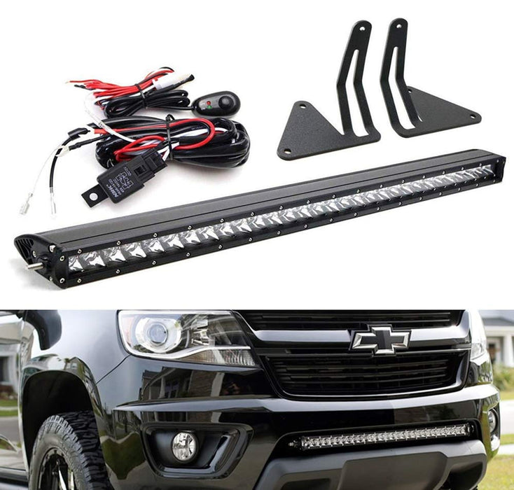 15-up Chevy Colorado GMC Canyon Lower Bumper LED Light Bar Kit ... on