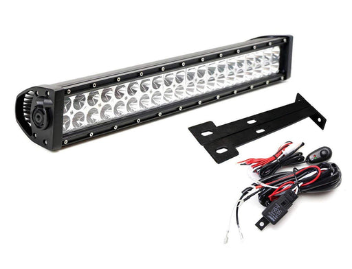"Lower Grille Mount 20"" Dual Color LED Light Bar Kit For 1999-07 Ford F250 F350 Super Duty, Includes (1) 120W LED Lightbar, Lower Bumper Opening Mounting Brackets & On/Off Switch Wiring Kit-iJDMTOY"