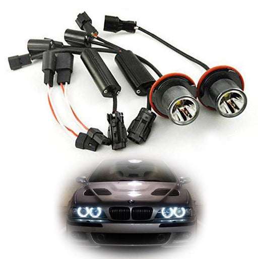 15W CREE High Power LED Angel Eye Bulbs For BMW 5 6 7 Series X3 X5 (E39 E60 E63 E65 E53), 7000K Xenon White Headlight Ring Marker Lights-iJDMTOY