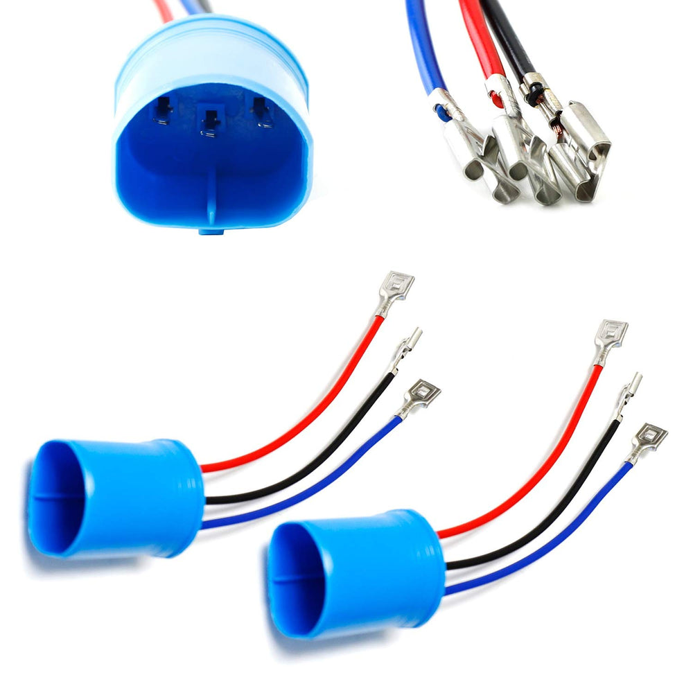 9007/9004 to H13/9008 or H4/9003 Polarity Adjustable Conversion Adapter Wiring Kit For Headlight Conversion Retrofit-iJDMTOY