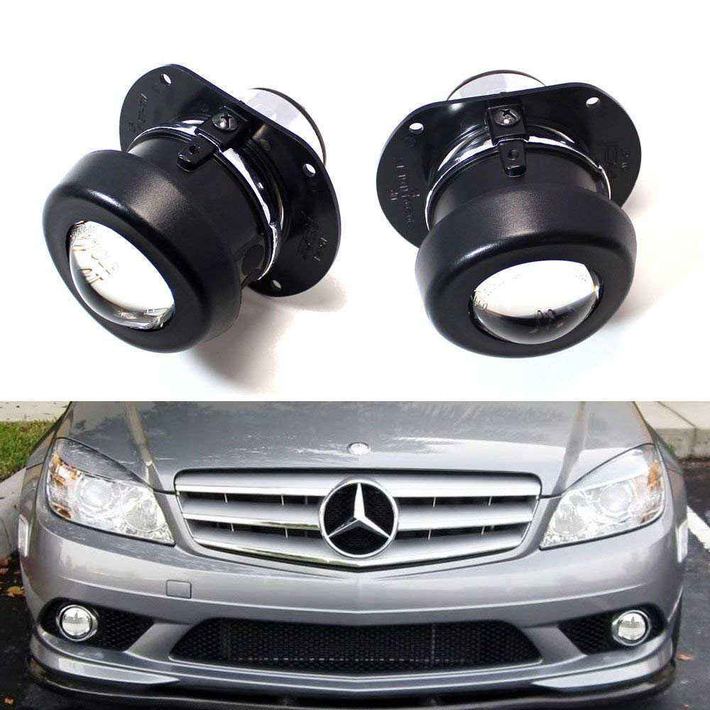 (2) OEM Replace Projector Fog Light Housings For Mercedes C R CL SL SLK Class, HID Ready (Bulbs Not Included)-iJDMTOY