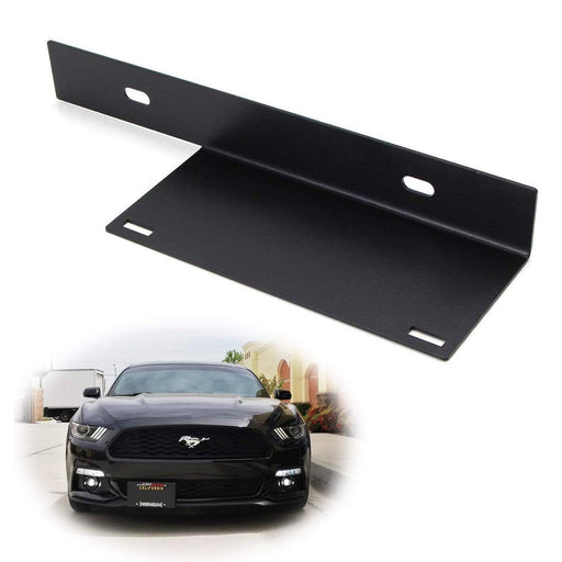 No-Drill Front License Plate Relocator Bracket For 2015-2017 Ford Mustang-iJDMTOY