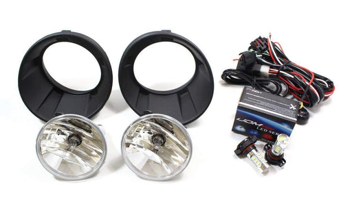 Complete Set Fog Lights Foglamps w/ Xenon White 5202 High Power LED Bulbs For 2010-2013 Chevy Camaro LS LT (For Camaro w/ Halogen Headlamps Trims Only)-iJDMTOY