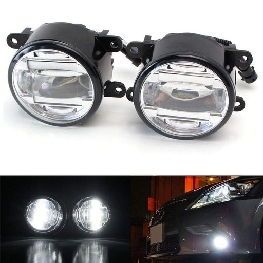 OEM Spec 15W Xenon White LED Projector Fog Lights For Acura Honda Ford Nissan Infiniti Subaru etc. Powered by 3 Pieces High Power 5W CREE XB-D LED Emitters-iJDMTOY