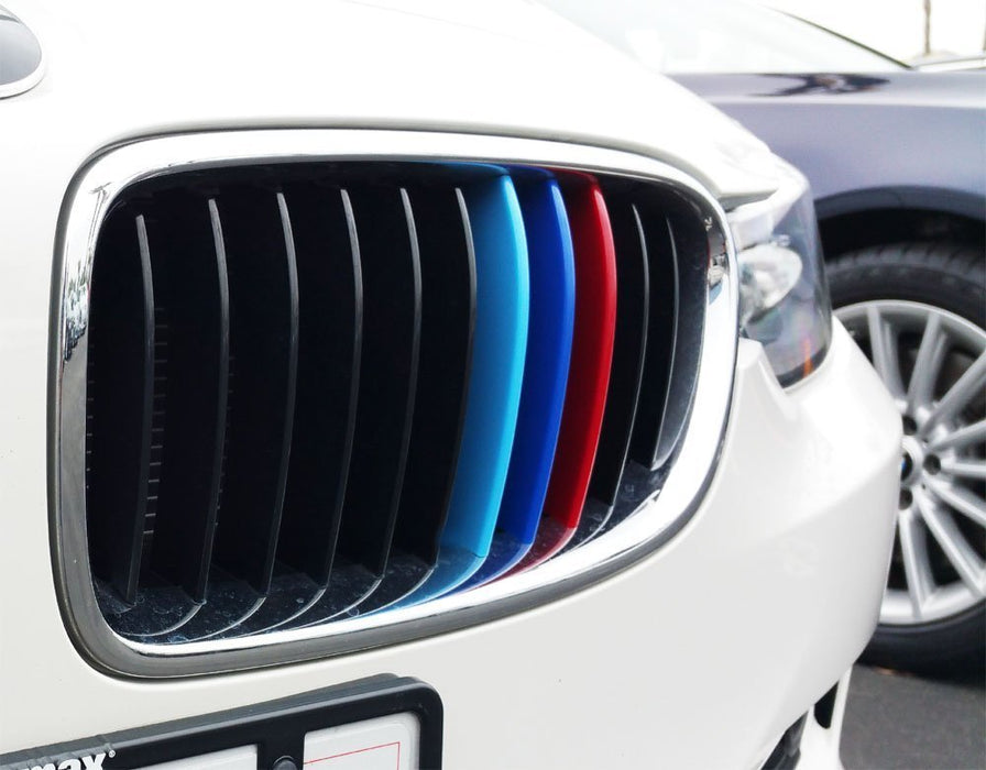 iJDMTOY Exact Fit //////M-Colored Grille Insert Trims Compatible With 2014-20 BMW F22 F23 2 Series 220i 228i 230i 235i w//Standard Kidney Grille 11-Beam ONLY