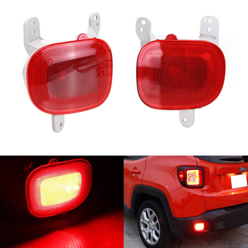 Complete LED Rear Fog Light Kit For 2015-up Jeep Renegade, Includes on speed sensor harness, tail light pigtail harness, fog lights for cars, fog light yellow paint, fog light connectors, fog light bumper, fog light resistor, pontiac g6 low beam harness, fog light bulbs, camaro fog light harness, fog lights kit chevy, fog light hood, motor harness, fog light accessories, fog light cover, fog light glass, fog light bracket, fog light computer, fog light grille, fog light switches,