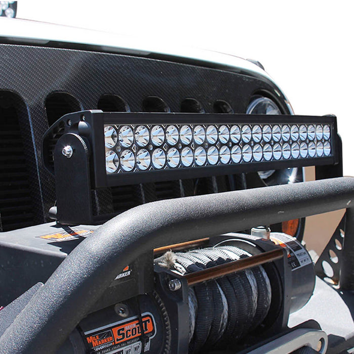 "20"" 120W LED Light Bar Kit Universal Fit For Truck SUV Jeep 4x4 ATV etc. Includes (1) High Power Double Row LED Light Bar, Cradle Mount U-Bracket & On/Off Switch Wiring Kit-iJDMTOY"