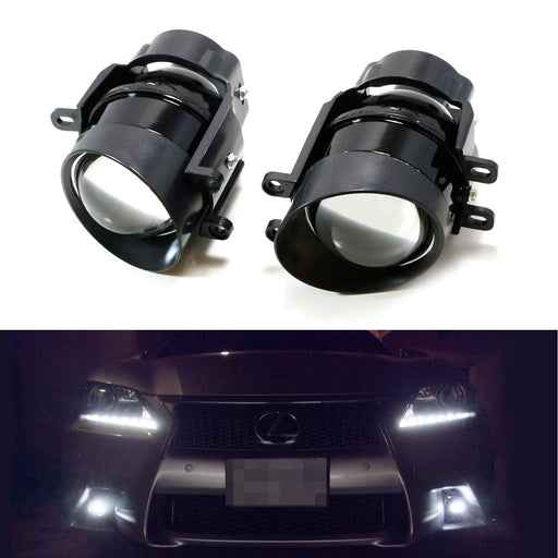 (2) Direct OEM Replace Projector Fog Lamps For Lexus IS GS CT LX RX Toyota Camry Venza Prius Sienna, etc (HID Lights Compatible)-iJDMTOY