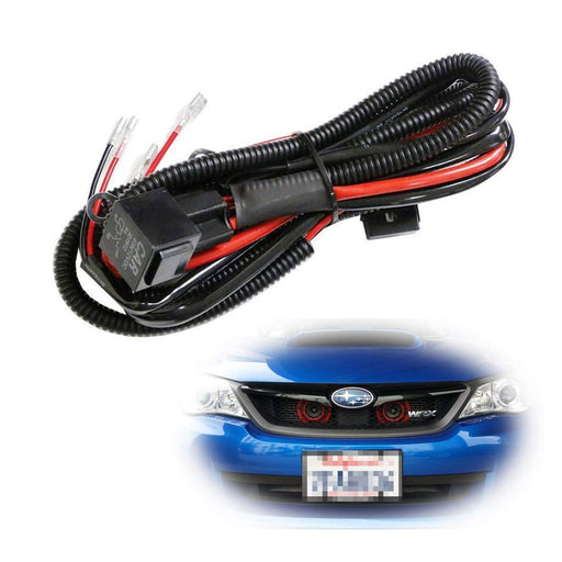 12V Horn Wiring Harness Relay Kit For Car Truck Grille Mount Blast Tone Horns (Actual Horn Not Included)-iJDMTOY