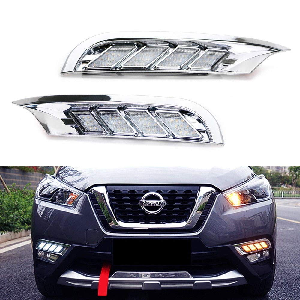 18 Up Nissan Kicks Switchback Led Daytime Running Light