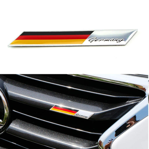 Aluminum Plate Germany Flag Emblem Badge For Germany Car Front Grille, Side Fenders, Trunk, Dashboard Steering Wheel, etc-iJDMTOY
