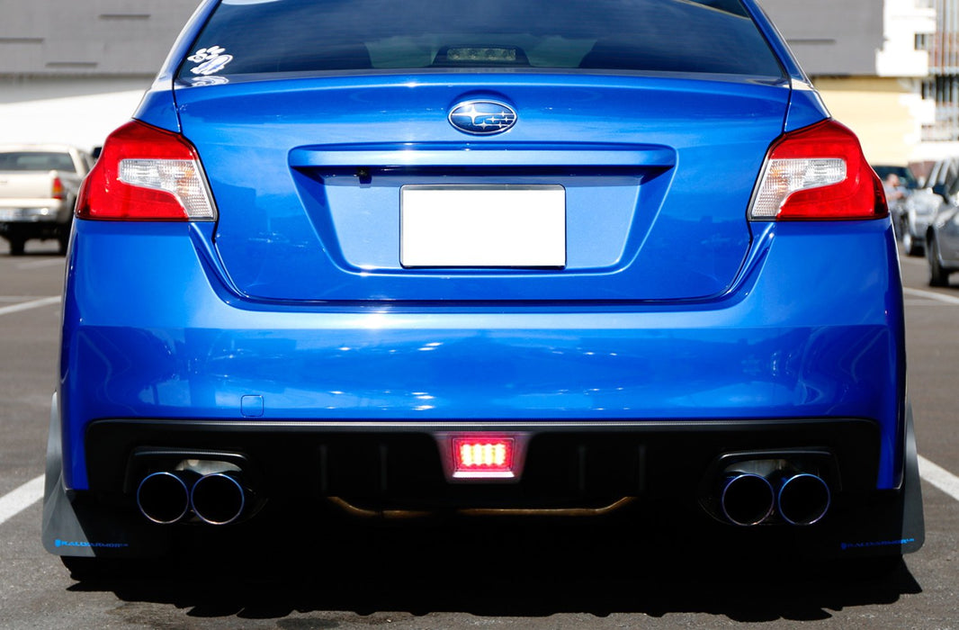 Red, Smoked or Black Housing with Clear Lens F1 Style LED Rear Fog Light Kit Fit 2011-up Subaru WRX STi, Impreza or VX Crosstrek (with Wire Harness & Mounting Bracket)-iJDMTOY