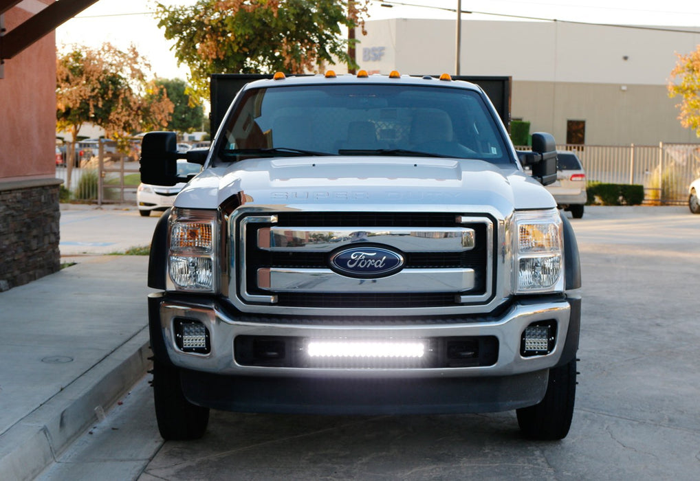 2011 2016 ford f250 lower grille mount led light bar kit Ford Bronco Wiring Harness