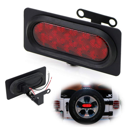 Rear Spare Tire Mount LED Brake/Tail Light Kit For 2007-2017 Jeep Wrangler JK, Brilliant Red or White-iJDMTOY