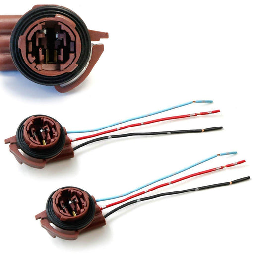 3156 3157 Pre-Wired Harness Sockets For Repair, Replacement, Install LED Bulbs For Turn Signal Lights, DRL Lamps or Brake/Tail Lights-iJDMTOY