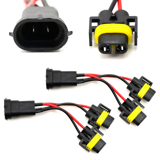 H11/H8 2-Way Splitter Wires For Headlight/High Beam Quad/Dual Projectors or Headlight/Fog Light Co-Operate Retrofit-iJDMTOY