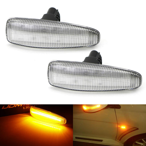 Amber Full LED Front Side Marker Lights For Mistubishi Lancer Evo X Mirage Outlander Sport, Powered by 36-SMD LED, Replace OEM Sidemarker Lamps-iJDMTOY
