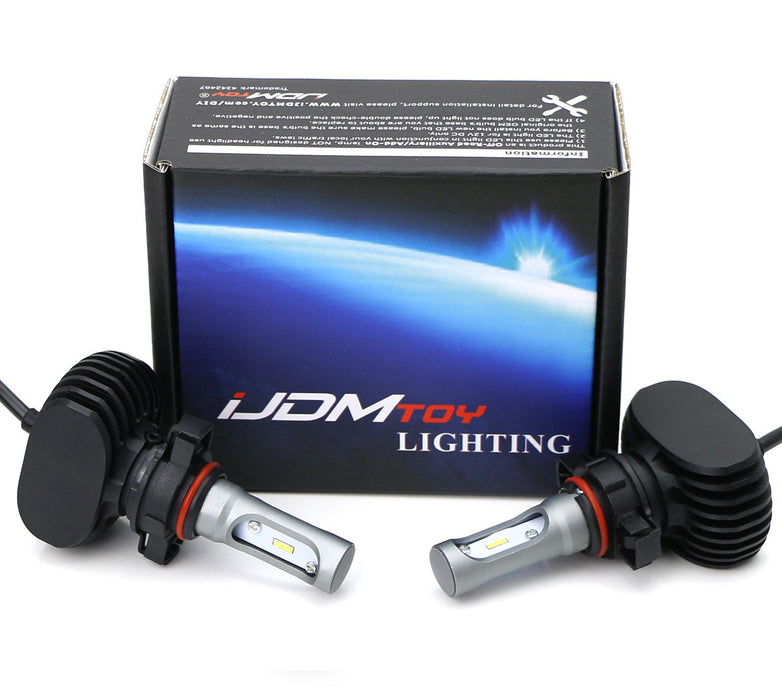 LED Headlight Bulbs, 50W 2500K Selective Yellow Extremely Bright LED Headlight, Driving Lamp, Fog Light Upgrade Bulbs, Powered By CSP Chipsets-iJDMTOY