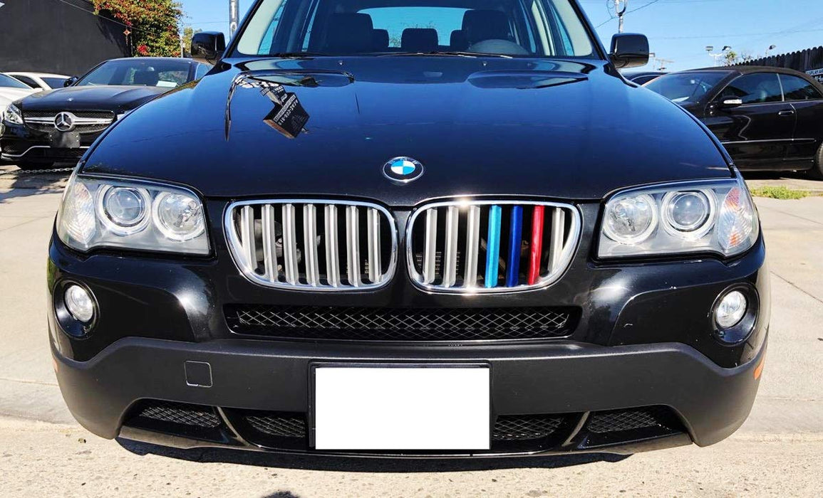 carado for BMW X3 G01 2018 7 Grille M Color BMW Grill Stripes Front Grille Grill Cover Insert Trim Clips 3Pcs