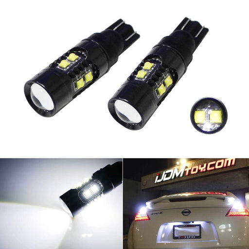 360-degree Extreme Bright 50W CREE High Power 906 912 921 W16W T10 LED Back Up Reverse Light Bulbs, Parking Lights-iJDMTOY