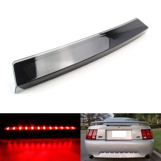 Smoked Black Lens LED 3rd Brake Light For 1999-2004 Ford Mustang, Powered by 12 Super Bright Red LED Emitters-iJDMTOY