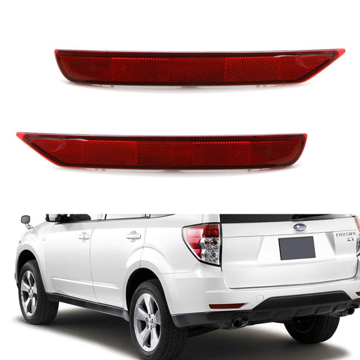 Red or Smoked Lens Rear Bumper Reflector Lenses For 2009-2018 Subaru Forester, OE-Spec LH RH Assembly-iJDMTOY