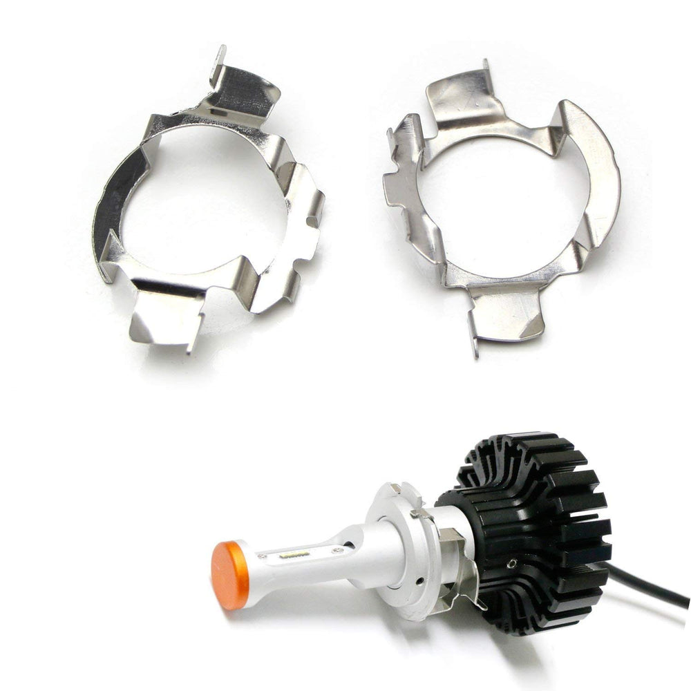 H7 LED Headlight Bulbs Adapters Holders Retainers For Audi BMW Mercedes-Benz Volkswagen etc (Low Beam)-iJDMTOY