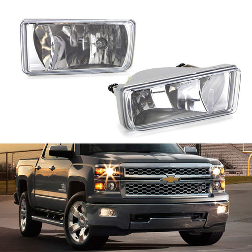 Clear Lens Fog Light Kit w/ 9145 Halogen Bulbs For 1999-2004 Ford F-250, 2001-2004 Ford F-350 F-450 F-550 Super Duty & Excursion-iJDMTOY