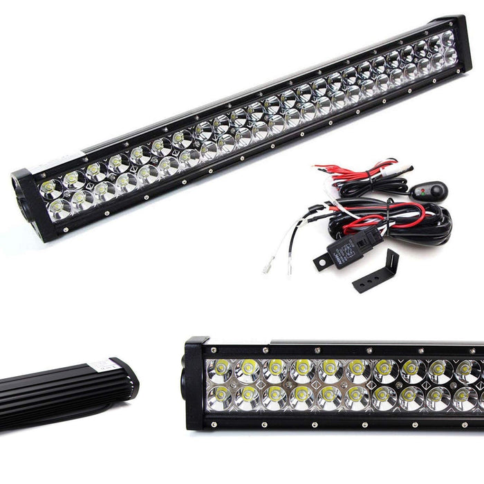 "Lower Grille Mount 25"" LED Light Bar Kit For 2011-14 Subaru Impreza WRX/STI, Includes (1) 144W High Power LED Lightbar, Lower Bumper Opening Mounting Brackets & On/Off Switch Wiring Kit-iJDMTOY"