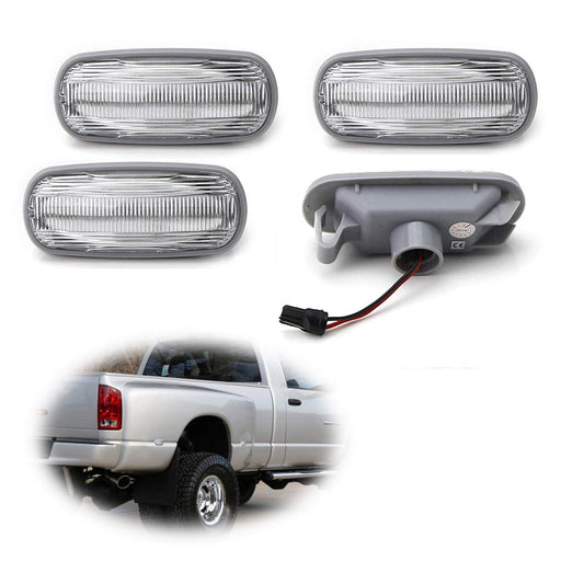 Amber/Red Full LED Trunk Bed Marker Lights Set For 2003-09 Dodge RAM 2500HD 3500HD Truck Double Wheel Side Fenders, Powered by Total 48 LED-iJDMTOY