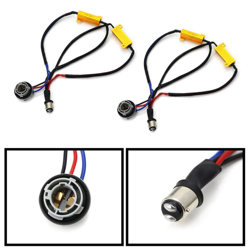 Hyper Flash/Bulb Out Error Fix Wiring Adapters For 1157 2057 2357 7528 LED Bulbs Turn Signal or Tail Brake Lights-iJDMTOY