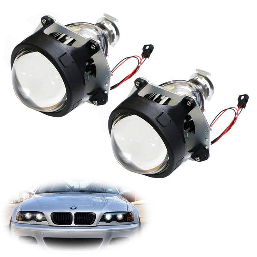 "3.0"" H1 Bi-Xenon HID Projector Lens For Headlights Retrofit, Custom Headlamps Conversion-iJDMTOY"