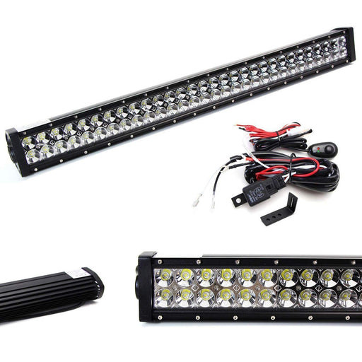 "Lower Grille 30"" LED Light Bar Kit For 2015-2019 Subaru WRX/STI, Includes (1) 180W High Power LED Lightbar, Lower Bumper Opening Mounting Brackets & On/Off Switch Wiring Kit-iJDMTOY"