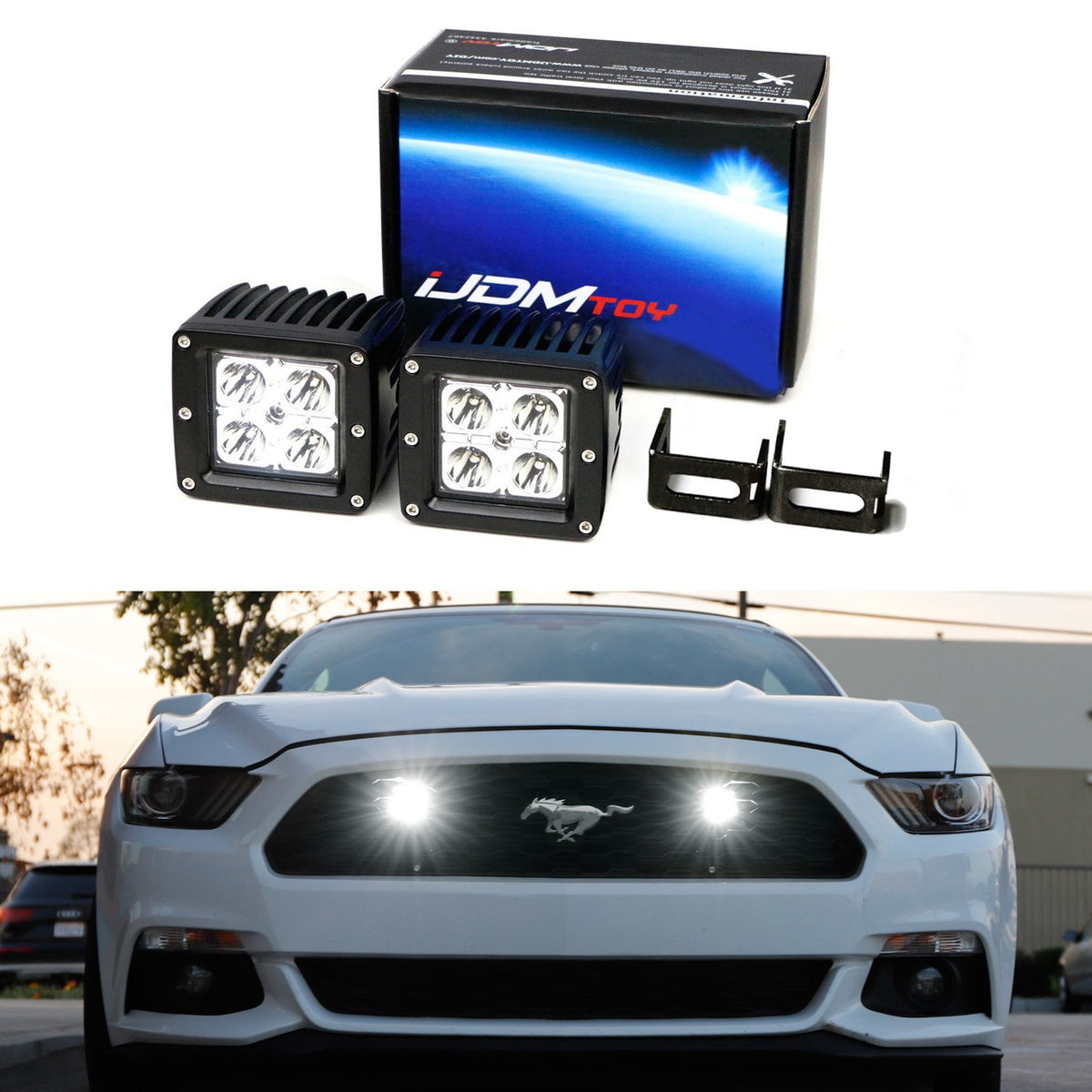 High Power 42-SMD LED Daytime Running Lights//Turn Signal Lights Conversion Kit For 2015-up Ford Mustang 2 iJDMTOY