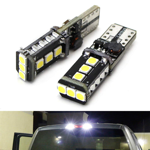 Xenon White High Power 9-SMD 906 912 920 921 T15 LED Replacement Bulbs For Chevrolet Ford GMC Honda Nissan Toyota Truck 3rd Brake Lamp Cargo Lights-iJDMTOY