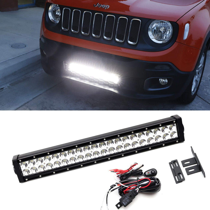 jeep tow bar wiring 2015 up    jeep    renegade behind lower grille led light    bar     2015 up    jeep    renegade behind lower grille led light    bar