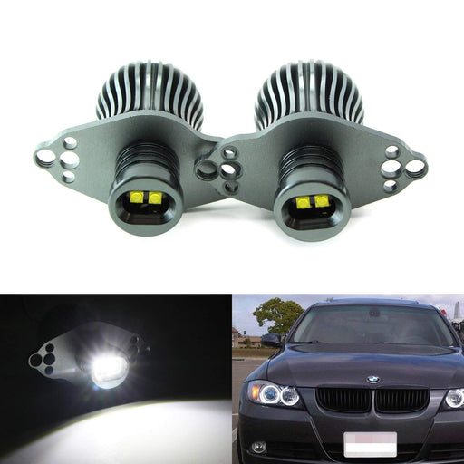 LED Angel Eye Marker Bulbs For 06-08 BMW E90 3 Series HID Xenon Headlights & 09-12 BMW 3 Series LCI Standard Halogen Headlights, Powered by 20W Xenon White High Power CREE LED Light-iJDMTOY
