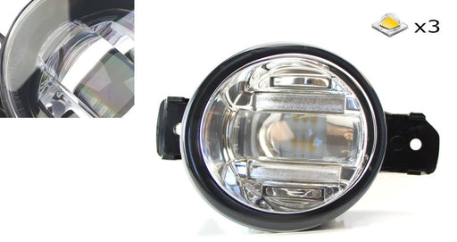 OEM Spec 15W Xenon White LED Projector Fog Lights For Nissan Infiniti etc. Powered by 3 Pieces High Power 5W CREE XB-D LED Emitters-iJDMTOY