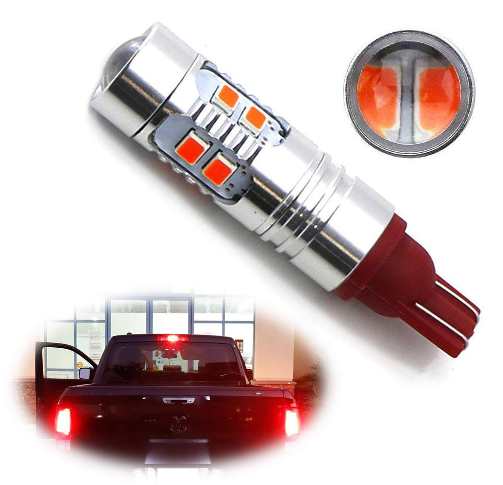 Strobe/Flashing Feature Red 10-SMD 921 912 LED Replacement Bulb For  Chevrolet Dodge Ford GMC Nissan Toyota Truck High Mount 3rd Brake Light