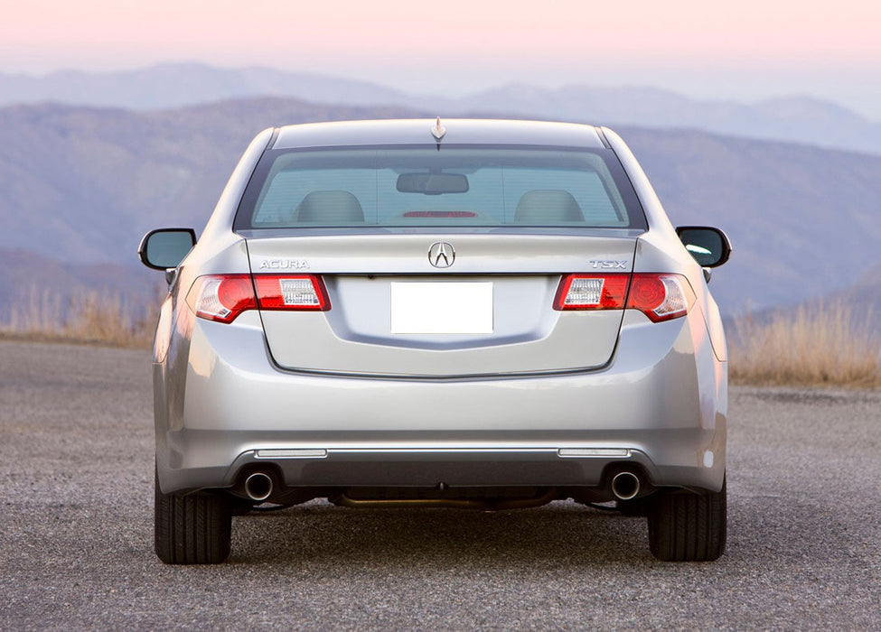 iJDMTOY Red Lens Rear Bumper Reflector Lenses For 2009-2014 Acura TSX Euro Accord OE-Spec LH RH Assembly
