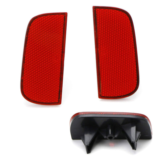 Clear, Red or Smoked Lens Rear Bumper Reflector Lenses For 2016-up Honda Civic Sedan/Coupe 10th Gen, OE-Spec LH RH Assembly-iJDMTOY