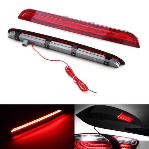 Red or Smoked Lens LED 3rd Brake Light Kit For 2013-2016 Mazda CX-5, Rear Center Roof High Mount Assembly, Function as Rear Fog/Running Lamps & Brake Lights-iJDMTOY